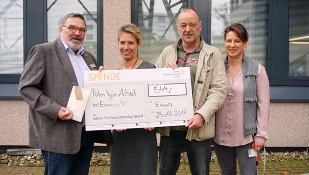 Spendencheck 544 Euro