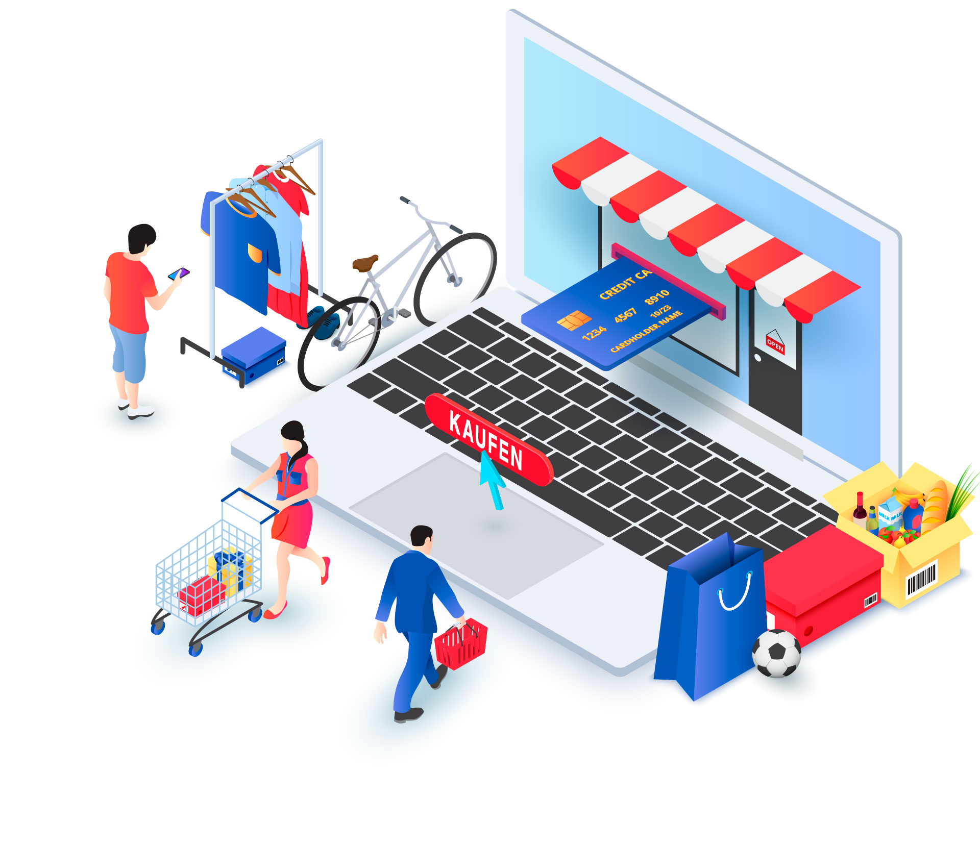 Onlineshop-Illustration